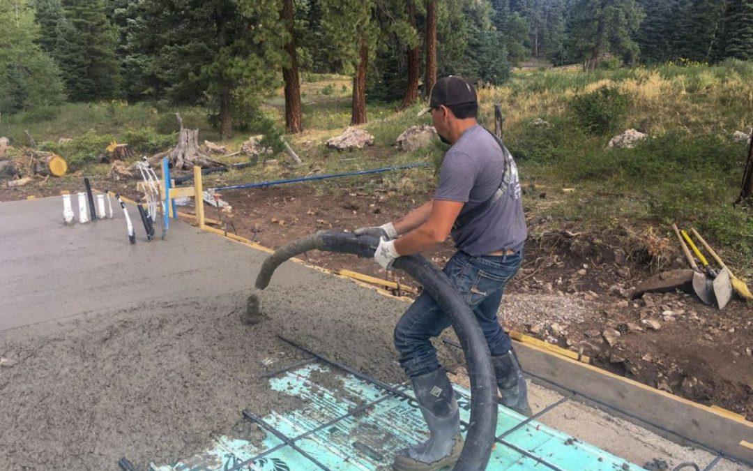 Electra Ski Cabin – Pouring Slab