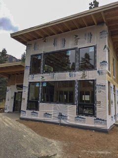Electra Ski Cabin – Windows are in!